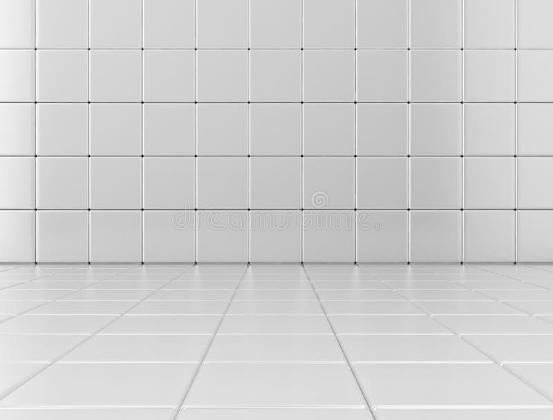 De witte glanzende achtergrond van de badkamerstegel stock illustratie