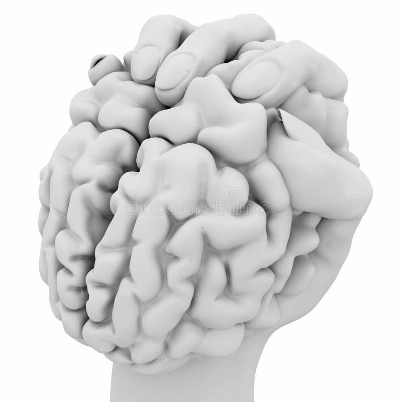 De Witte Greep van hersenen, stock illustratie