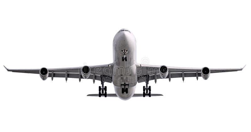 De witte het vliegtuigstart van de vier straalmotorenluchtvaartlijn royalty-vrije stock fotografie