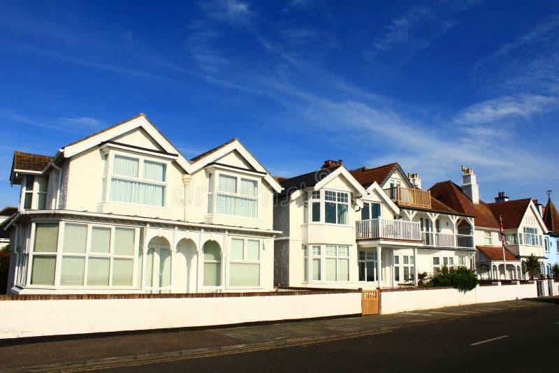 De witte huizen Kent England van Nice stock foto's