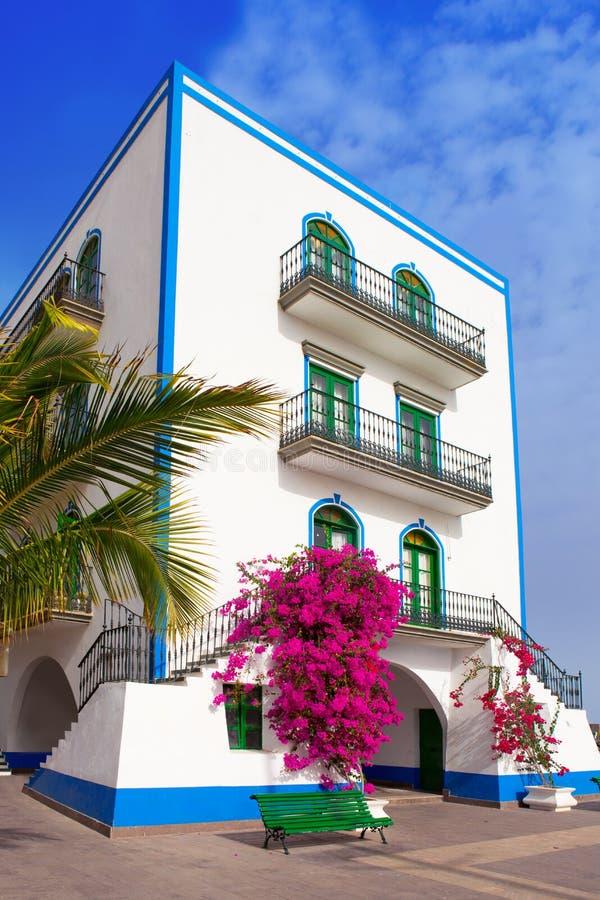 De witte huizen van Gran Canaria Puerto DE Mogan royalty-vrije stock afbeelding