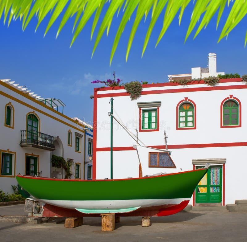 De witte huizen van Gran Canaria Puerto DE Mogan royalty-vrije stock afbeeldingen