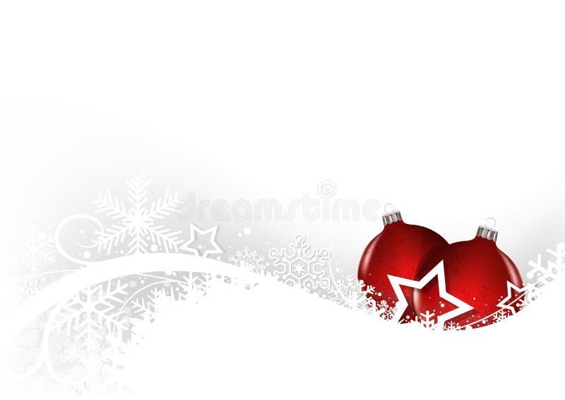 De witte kaart van de Kerstmisgroet royalty-vrije illustratie