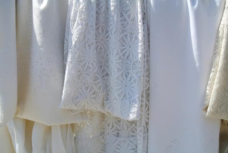 De Witte kleren royalty-vrije stock afbeeldingen