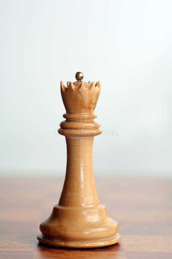 De witte koningin van het schaak stock afbeelding