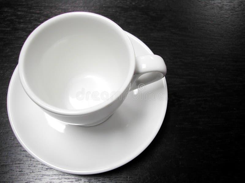 De Witte Kop Van De Koffie Stock Foto