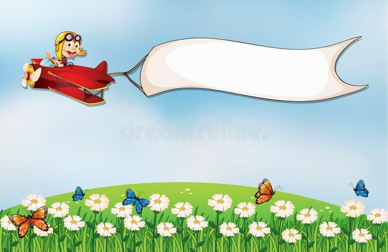 De witte lege banner stock illustratie