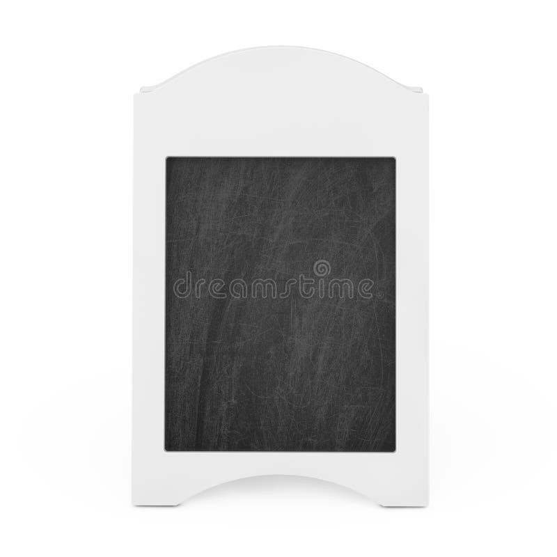 De witte Lege Houten Openluchtvertoning van het Menubord het 3d teruggeven vector illustratie