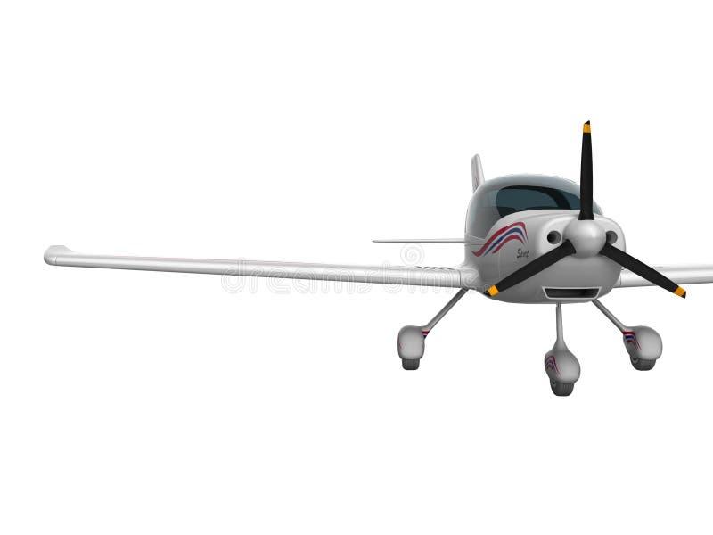 De witte lichte vliegtuigen voor twee 3d passagiers geven op witte achtergrond geen schaduw terug vector illustratie