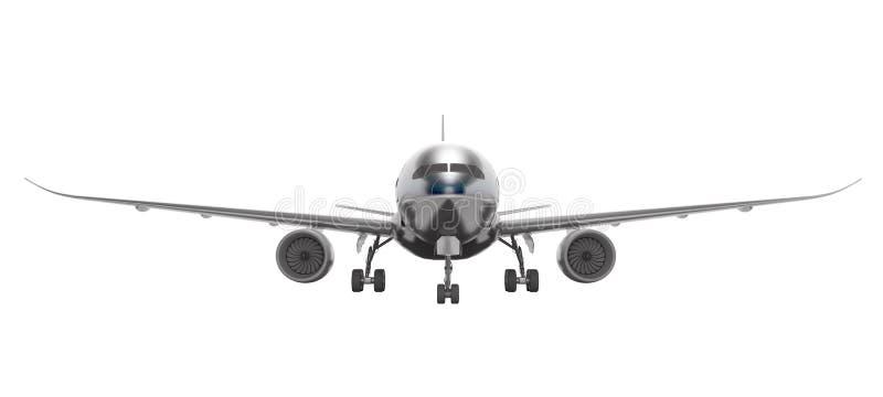 De witte luchtvaart isoleerde 3d maakt vliegtuig op witte achtergrond geen schaduw royalty-vrije illustratie