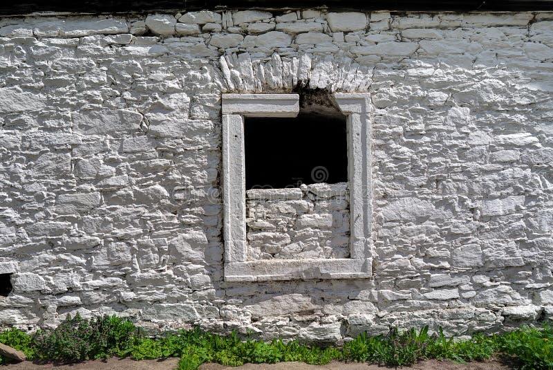 De witte Muur van de Steen stock foto's