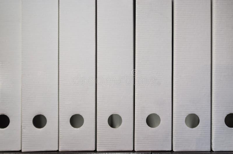 De witte omslagen van het documentarchief stock foto
