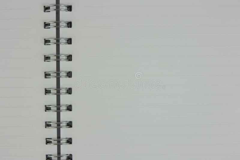 De witte pagina's van notitieboekje is open stock afbeeldingen