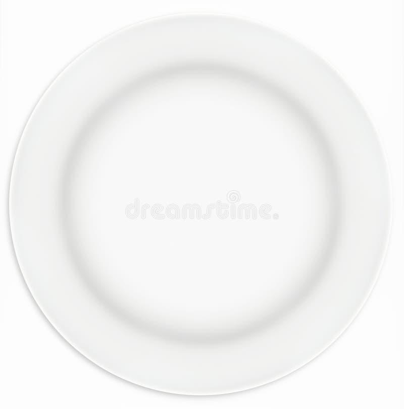 De witte Plaat van de Sandwich royalty-vrije stock foto