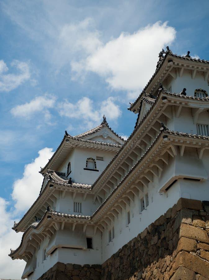 De witte reiger van Japan van het Kasteel van Himeji stock afbeelding