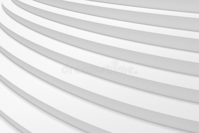 De witte ronde het stijgen mening van de tredenclose-up vector illustratie