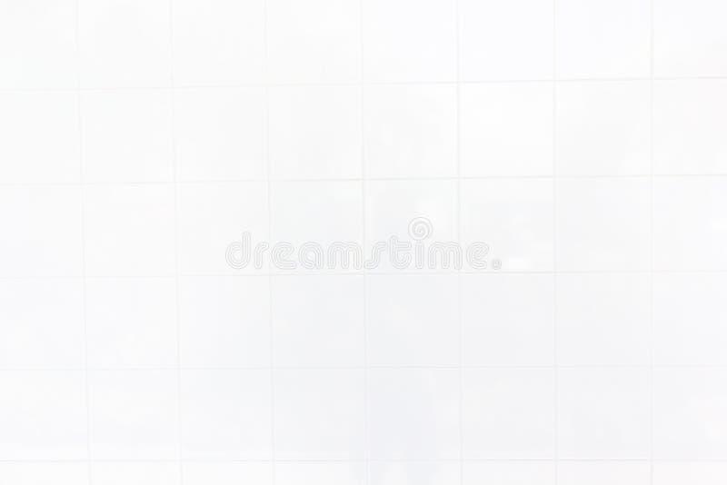 De witte tegelmuur/de Witte textuur van de tegelsmuur kan als achtergrond of voor binnenlandse ontwerp en buitenkant worden gebru royalty-vrije stock afbeelding