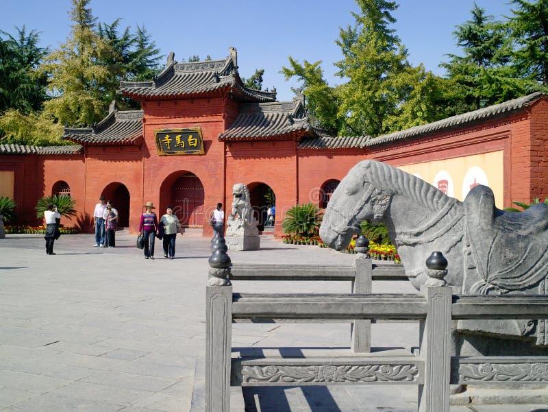 De witte Tempel van het Paard stock afbeelding