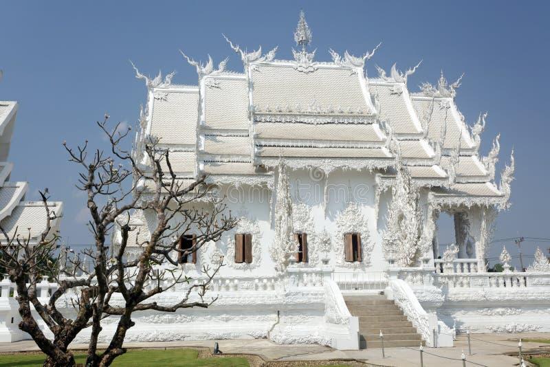 De witte tempel van Rai van Chiang stock afbeeldingen