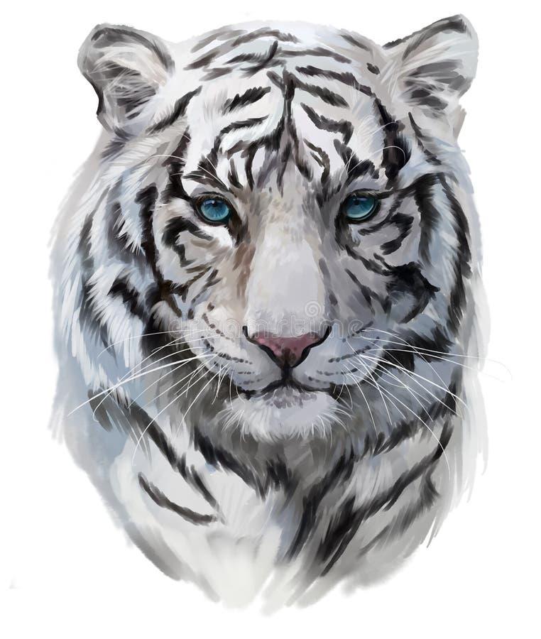 De witte tijger stock illustratie