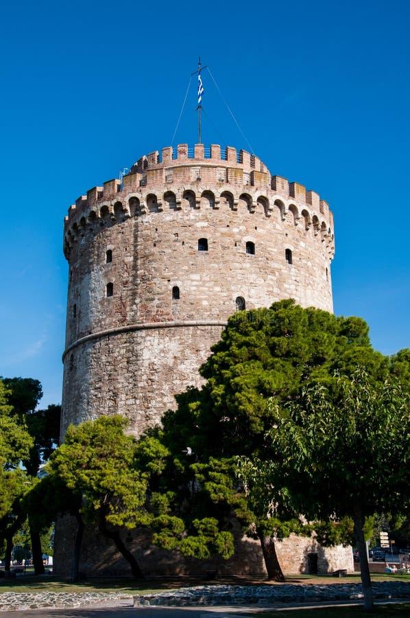 De witte Toren van Thessaloniki stock foto