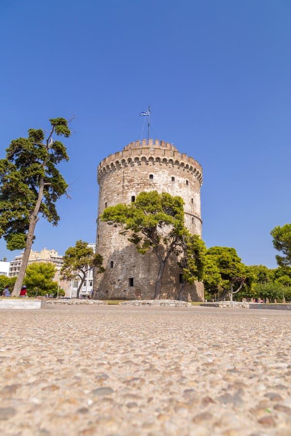 De Witte toren van Thessaloniki, Griekenland royalty-vrije stock foto's