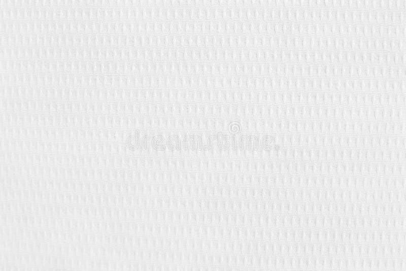 De witte van de katoenen achtergrond stoffentextuur, naadloos patroon van natuurlijke textiel stock fotografie
