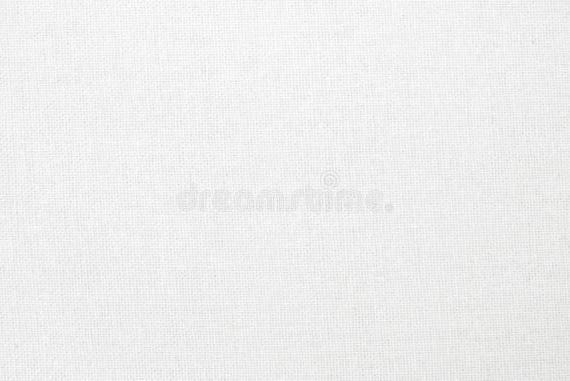 De witte van de katoenen achtergrond stoffentextuur, naadloos patroon van natuurlijke textiel vector illustratie