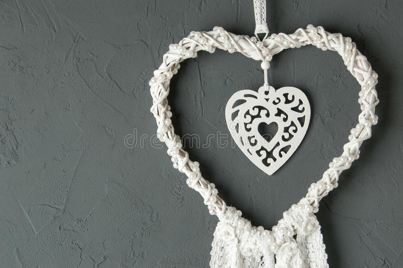 De witte vanger van de hartdroom stock afbeeldingen