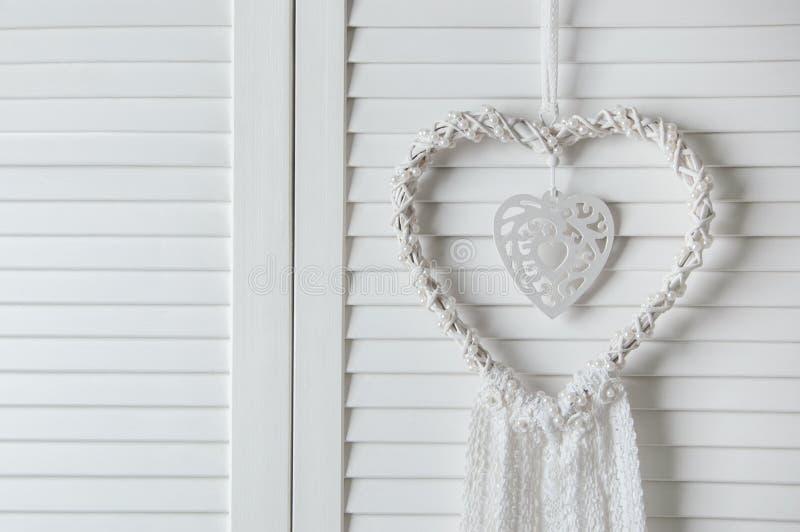 De witte vanger van de hartdroom royalty-vrije stock afbeeldingen