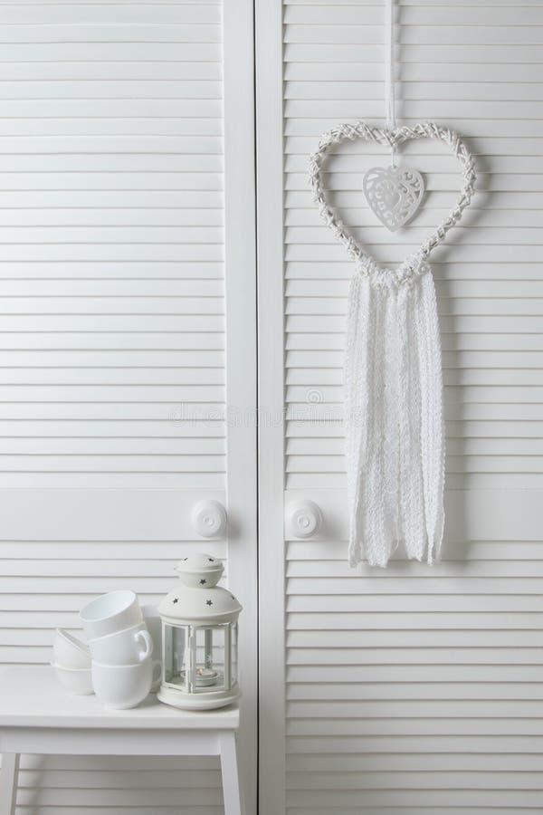 De witte vanger van de hartdroom royalty-vrije stock afbeelding