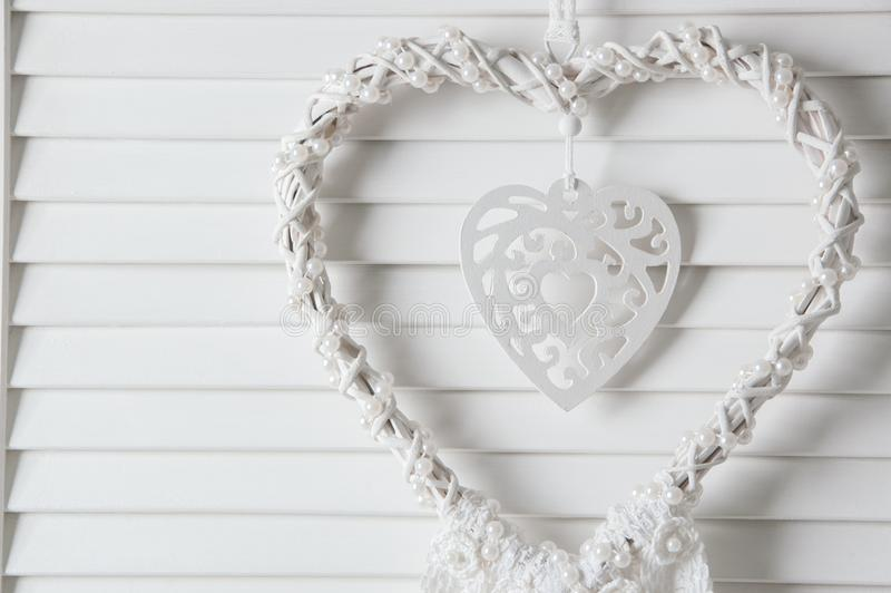 De witte vanger van de hartdroom stock fotografie
