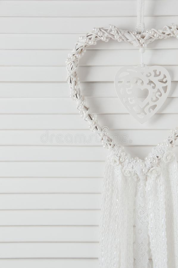 De witte vanger van de hartdroom royalty-vrije stock fotografie