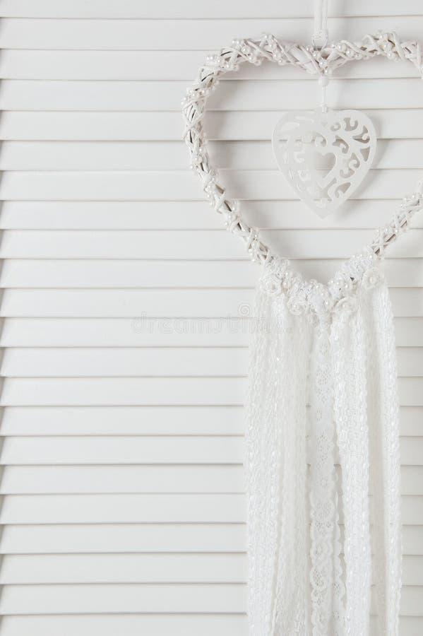 De witte vanger van de hartdroom stock afbeelding