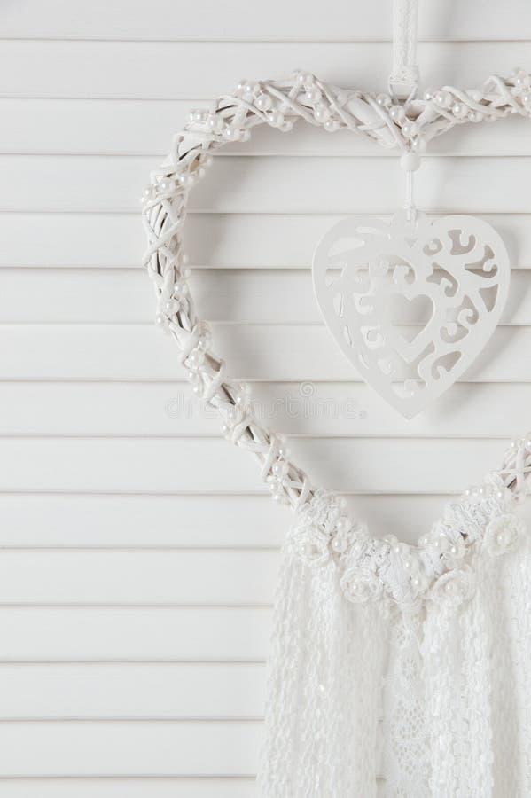 De witte vanger van de hartdroom royalty-vrije stock foto's