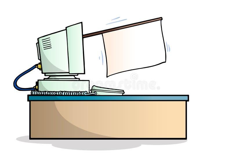 De witte vlag van computers royalty-vrije illustratie