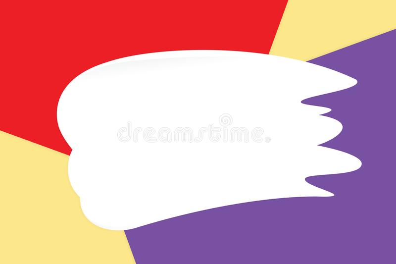 De witte vlekkenroom op kleurrijke pastelkleur zachte document schoonheidsmiddelen als achtergrond voor exemplaar ruimtebericht,  royalty-vrije illustratie
