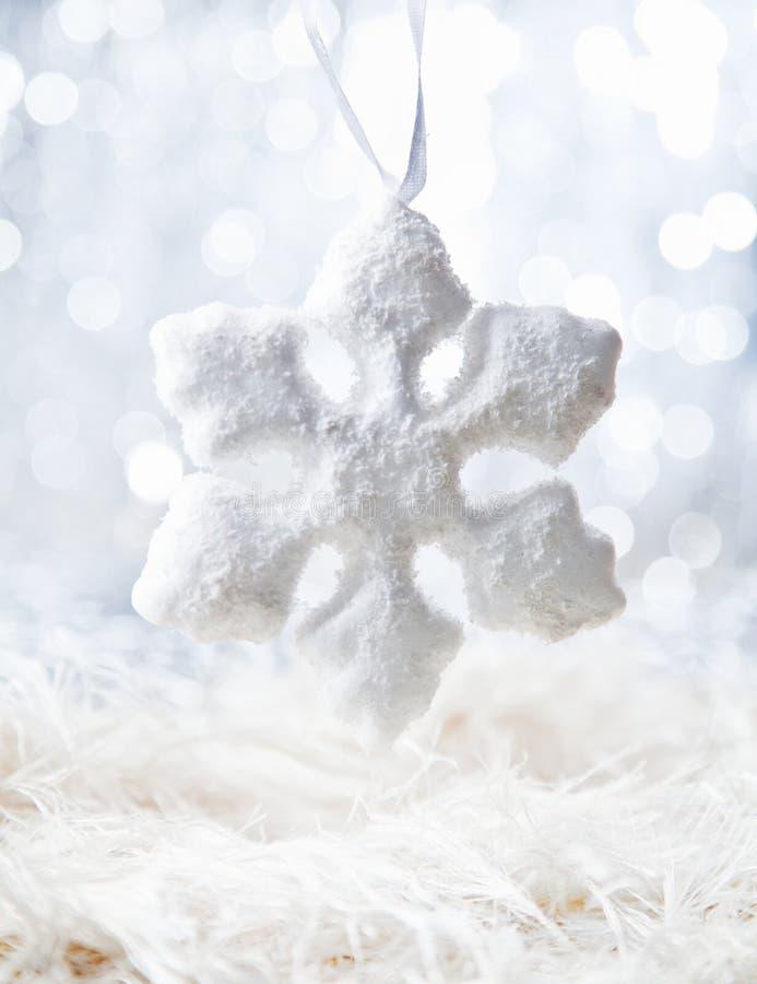 De witte vlok van de Sneeuw royalty-vrije stock afbeeldingen