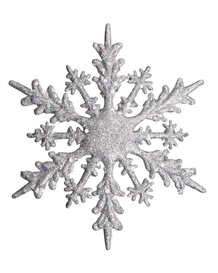 De witte vlok van de Sneeuw royalty-vrije stock afbeelding