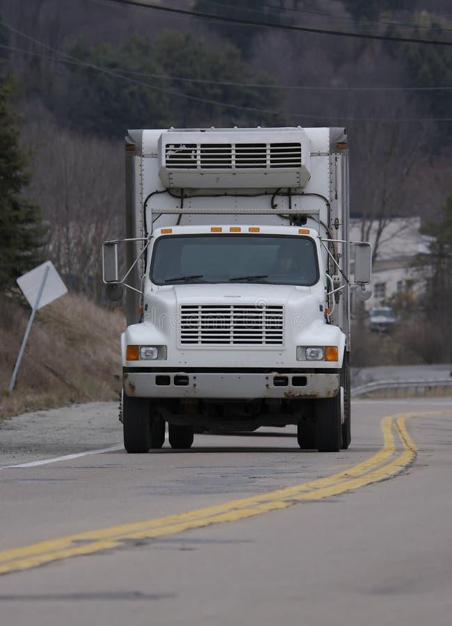 De witte Vrachtwagen van de Doos royalty-vrije stock fotografie