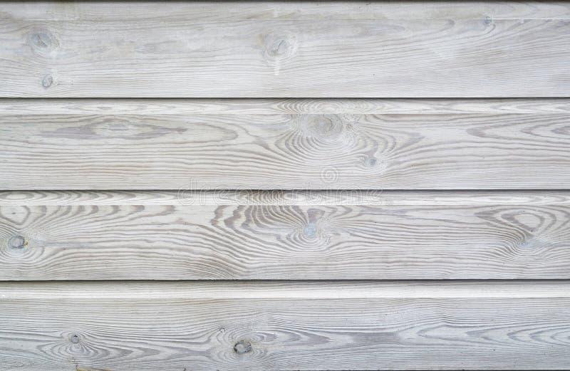 De witte was schilderde textuur houten achtergrond van plankenplanken met de groeiringen en houten korrel vains royalty-vrije stock fotografie
