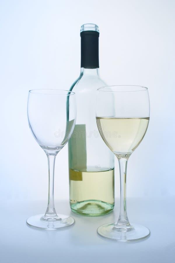 De witte wijn van de kwaliteit stock fotografie