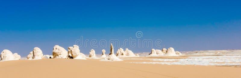 De Witte Woestijn in Farafra in de Sahara van Egypte stock foto