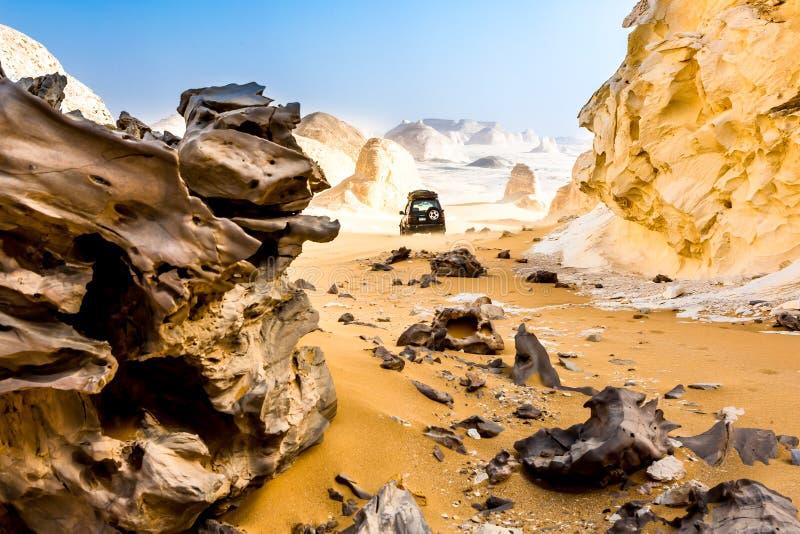 De Witte Woestijn in Farafra in de Sahara van Egypte stock afbeelding