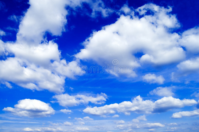 De witte wolken. royalty-vrije stock foto's