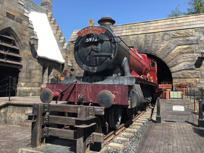De Wizarding-Wereld van Harry Potter in Universele Studio, Osaka Magisch, hogwarts stock foto's