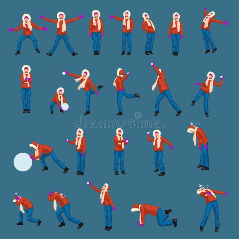 De Woamnwinter kleedt reeks vector illustratie