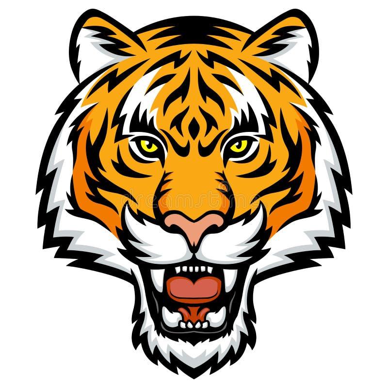 De woede van de tijger vector illustratie