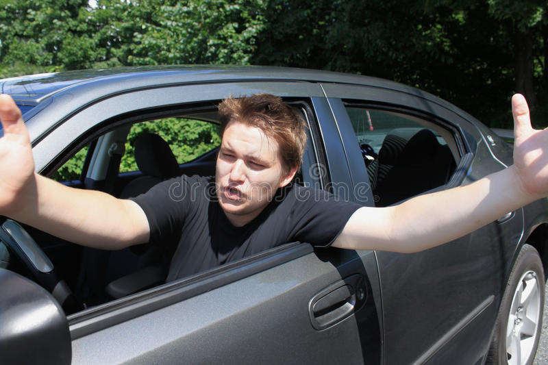 De woede van de weg stock fotografie