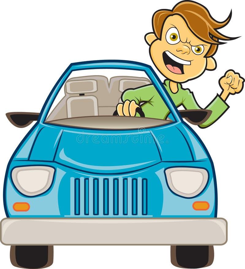 De woede van de weg vector illustratie